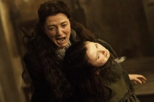 Lady Catelyn is the picture of a destroyed and beaten woman